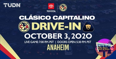 More Info for Drive-In OC: CLASICO CAPITALINO: AMÉRICA VS PUMAS