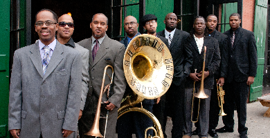 Rebirth Brass Band (by Jeffrey Dupuis) 390 x 200